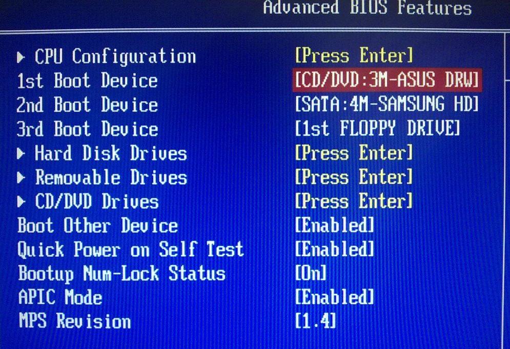 Как сделать windows 7 биос 529