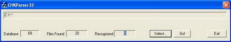 Как восстановить информацию в chk-файлах