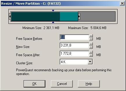 Как создать, увеличить, форматировать раздел жесткого диска в Partition Magic