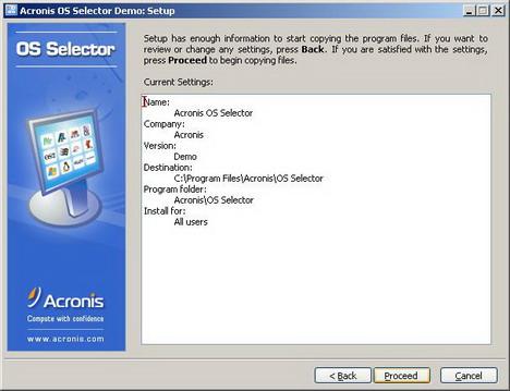 Как установить несколько операционных систем на ПК с помощью Acronis OS Selector